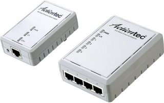 Actiontec 500Mbps Powerline Ethernet Adapter and 4-Port Hub Kit