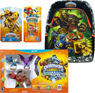 Activision Skylanders Giants Starter Kit with 2 Figures & Backpack (Nintendo Wii