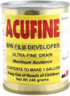 Acufine Black & White Film Developer Concentrate Makes 1 Gal. of Stock Solution