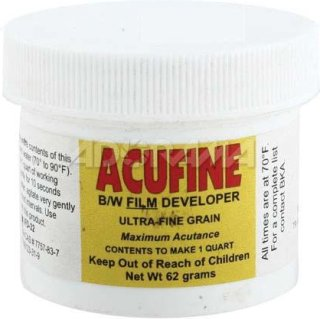 Acufine Black & White Film Developer Concentrate Makes 1 Qt. of Stock Solution
