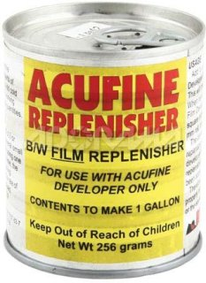 Acufine Film Developer Replinsher to Make 1 Gallon of Solution
