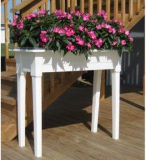 Adams 36 inch Garden Planters - White