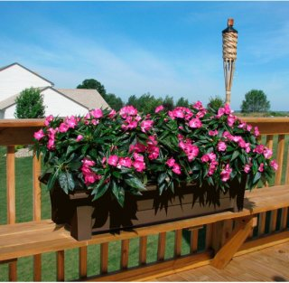 Adams Deck Planter - Brown