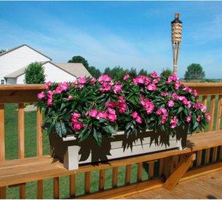 Adams Deck Planter - Clay