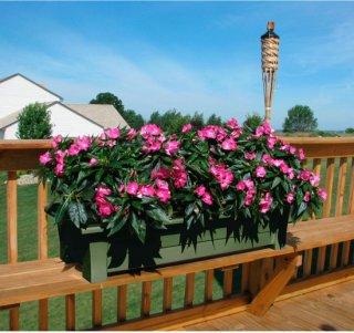 Adams Deck Planter - Sage
