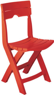 Adams Quick-Fold Chair - Cherry Red