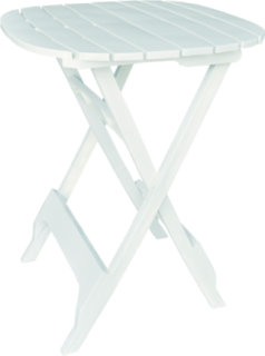 "Adams Quik-Fold 40"" Bistro Table - White"