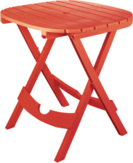 Adams Quik-Fold Caf Table - Cherry Red