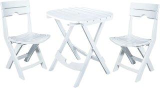 Adams Quik-Fold Cafe Set - White