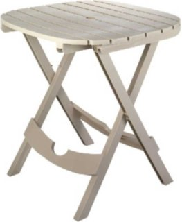 Adams Quik-Fold Cafe Table - Desert Clay