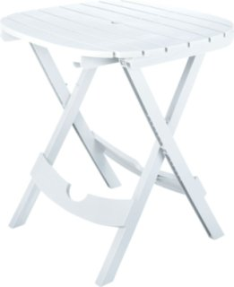 Adams Quik-Fold Cafe Table - White