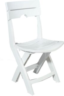 Adams Quik-Fold Chair - White
