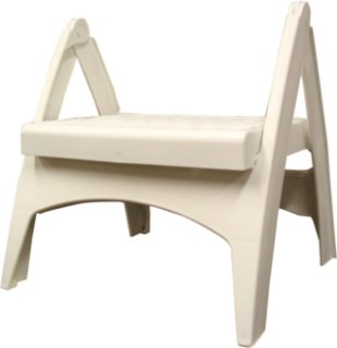 Adams Quik-Fold Outdoor Step - White