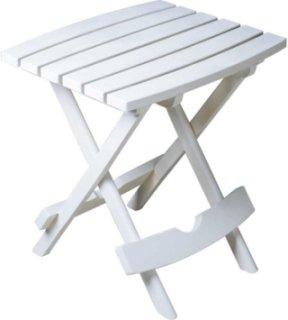Adams Quik-Fold Side Table - White