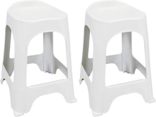 "Adams Real Comfort 24"" Barstool - White"