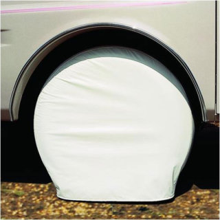 """Adco Products Ultra Tyre Gard Pair - Tire Diameter 19"""" to 22"""" Colonial White (For Pop-ups)"""