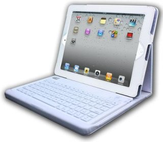 Adesso Compagno 2 - Bluetooth 3.0 Keyboard with Carrying Case for iPad 2 White