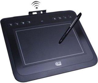 "Adesso CyberTablet W10 8x5"" RF Wireless Graphic Tablet 30' (10m) Wireless Range 8 Hot Keys 4 000 lpi Resolution"