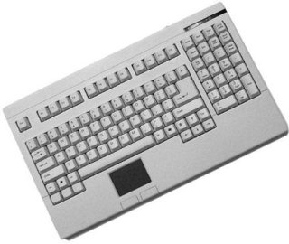 Adesso Easy-Touch Keyboard with Touchpad PS/2 White