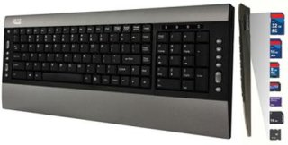Adesso SlimMedia Pro Keyboard with Built-In Card Reader and USB 2.0 Hub