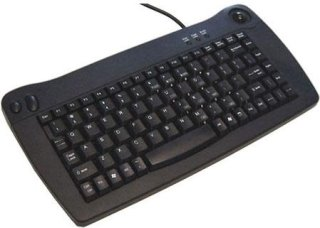 Adesso USB Mini Keyboard Built-in Trackball 200 DPI Resolution Black