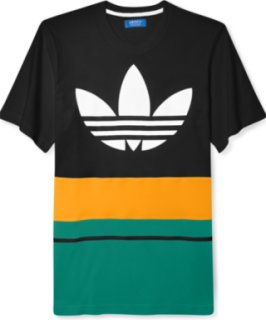 Adidas adi Originals Short-Sleeve Crew Neck Art Blocked T-Shirt