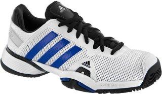 Adidas Barricade 8 Junior White/Blue Beauty/Metallic Silver