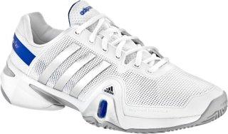 Adidas Barricade 8 White/Metallic Silver/Blue Beauty