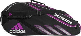 Adidas Barricade III Tour 3 Racquet Bag Black/Silver/VibrantPink