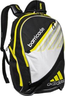 Adidas Barricade III Tour Backpack Black/White/Yellow