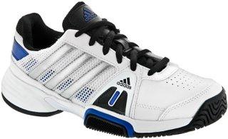 Adidas Barricade Team 3 Junior White/Metallic Silver/Blue Beauty