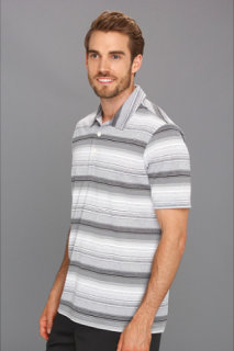 Adidas ClimaLite Heathered Ombre Striped Polo