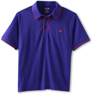 Adidas ClimaLite Piped Solid S/S Polo