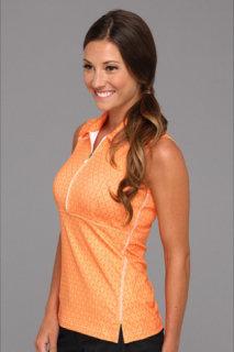 Adidas ClimaLite Sleeveless Print Zip Polo