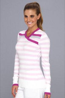 Adidas Crossover Neck Stripe Sweater