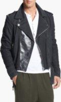 Adidas SLVR Stone Washed Leather Biker Jacket Large