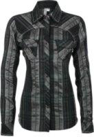 Adiktd Metallic Plaid Long Sleeve Western Shirt