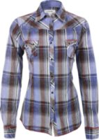 Adiktd Rhinestone Plaid Long Sleeve Western Shirt