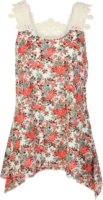 Adiktd Sleeveless Lace and Floral Blouse