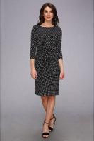 Adrianna Papell Asymmetrical Dress w/ Dots