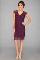 Adrianna Papell Diagonals Scallop Dress