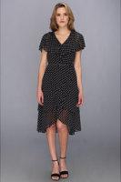 Adrianna Papell Dot Flutter Dress