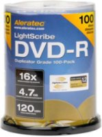 Aleratec DVD-R 16x Lightscribe V1.2 Duplicator Grade Media 100 Pack