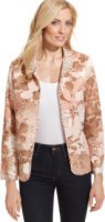Alfred Dunner Quilted Floral-Print Jacket