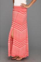 Allen Allen Long Paneled Skirt w/Slit