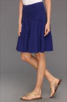 Allen Allen Tiered Knee-Length Long Skirt