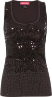 American Attitude Say What Sequin Tank Top