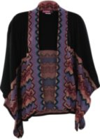 American Attitude Say What Short Sleeve Aztec Print Cardigan