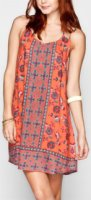 Angie Boho Print Slip Dress