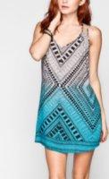 Angie Ethnic Print Slip Dress